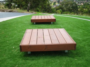 2 x Platform Seats, Duke Street Reserve Sunshine North