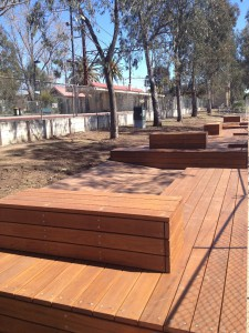 Custom Timber Decking & Seating – Fido Park