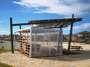 Custom Shelter with Wind Break, Saltwater Coast, Point Cook