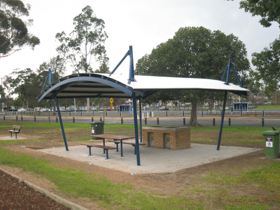 Grdc curved shelter kardinia park Gazebo roof pitch