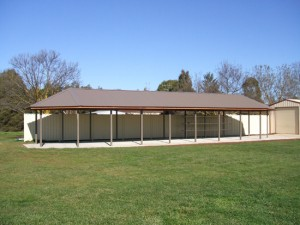 Custom Gable Roof Shelter – Shepparton