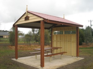 Gable Roof Shelter – Bellarine Rail Trail