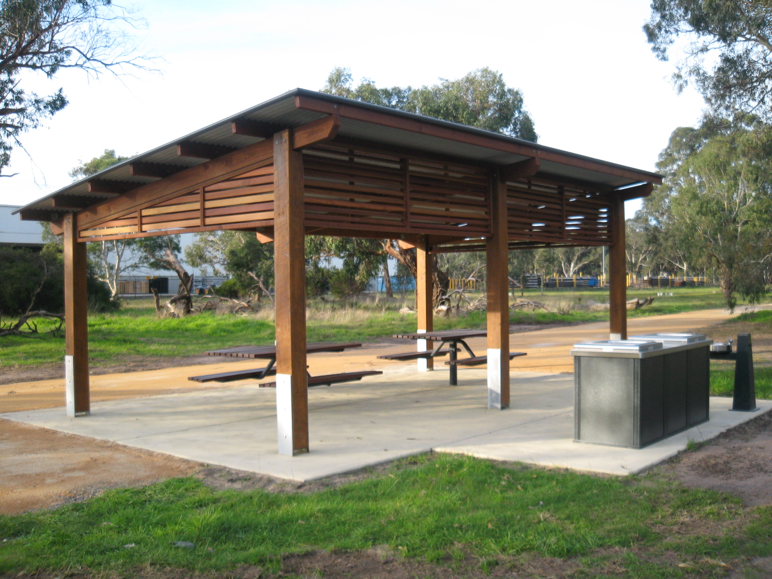 Metal Pool Shelters : Grdc city of greater dandenong skillion shelter