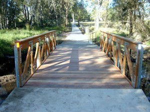 Timber Truss Footbridge