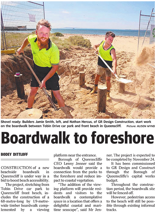 Boardwalk to foreshore