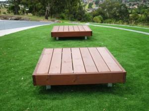 2 x Platform Seats, Duke Street Reserve Sunshine North