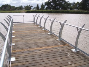 Viewing platform with custom balustrade-Casey Fields, Cranbourne