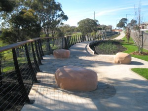 Timber Boardwalk with Stainless Steel Handrail – Province Estate, Highton