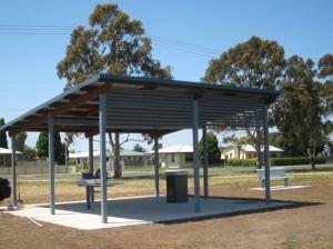 6 x 6m Skillion Shelter