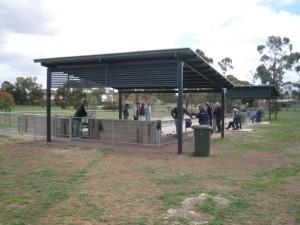 7 x7m Skillion Shelters – Bocci Court